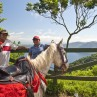 Horseback riding with beautiful scenery