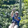 Ziplinging in the rainforest